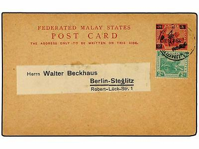 MALAYA (FEDERATION). 1920. Usage of 1918 prov