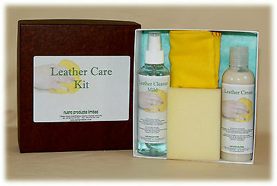 Leather Care Kit, Cleaning, Protecting most Finished leather goods