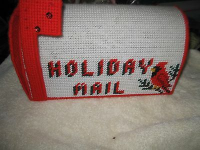 CHRISTMAS MAILBOX Plastic Canvas FINISHED