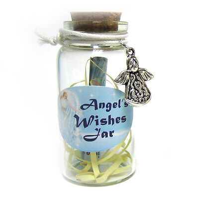 Angel Wishes Jar With Angel Trinket 6cm