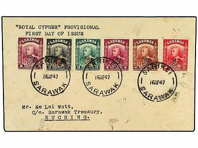 SARAWAK. 1947 (April 16). First Day cover of 1947 GR cy