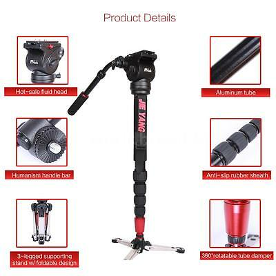 """Professional 63""""Monopod Stand with Fluid Head for SLR DSLR Camera Camcorder F2Q2"""