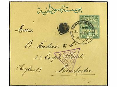 SOUDAN. 1916 (Jan). 2 m wrapper (H & G 4) cancelled OMDU