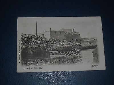 Postcard Launch Of The Lifeboat Dunbar Postmarked 1904
