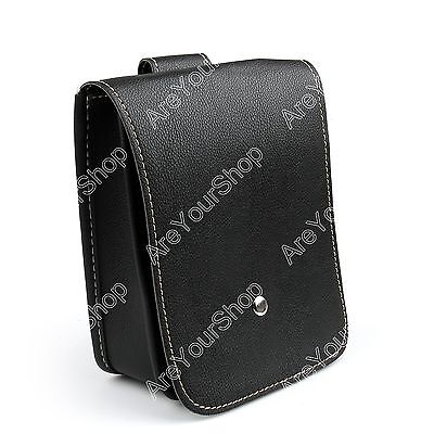 Black minimalist Motorcycle Bags Leather Side Tool Bag Luggage For Harley AU