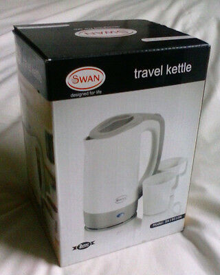 SWAN Electric Travel Jug Kettle 0.5L Litre With 2 Cups - Model SK19010N