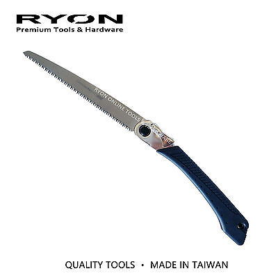 "Folding Hand Pruning Saw 240mm 9-1/2"" Landscaping Pull Stroke Made in Taiwan"