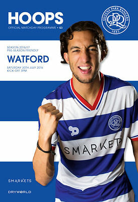 Qpr V Watford -Official Programme-Friendly- 30Th July 2016