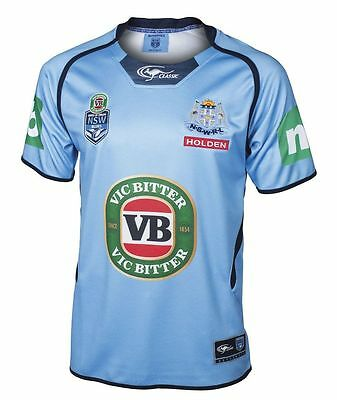 NSW Blues State of Origin Mens Premium Jersey BNWT NRL Rugby League Clothing
