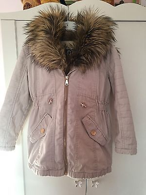 Girls River Island Parka Coat Age 7 Years