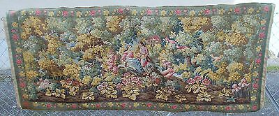 Stunning Large French Antique Aubusson Tapestry Wall Hanging Superb Colours