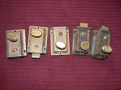 LOTof 5 USED VINTAGE DOOR LOCKS HARDWARE Russwin, Yale, Ilco