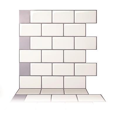 Tic Tac Tiles® - Premium 3D Peel & Stick Wall Tile in Mono White (5 sheets)