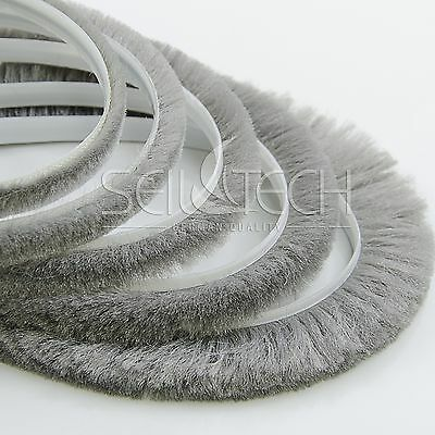 6.9x20mm SEAL BRUSH self-adhesive dust and draught excluder heat loss reducer