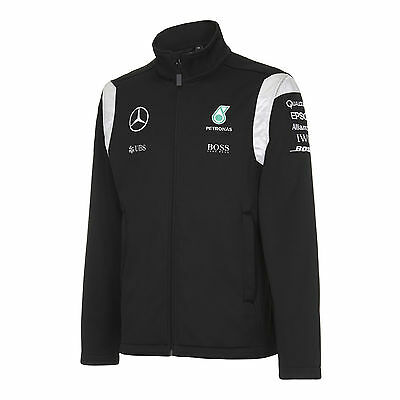 2016 OFFICIAL Mercedes AMG Petronas F1 Team Soft Shell Jacket Coat MENS - NEW