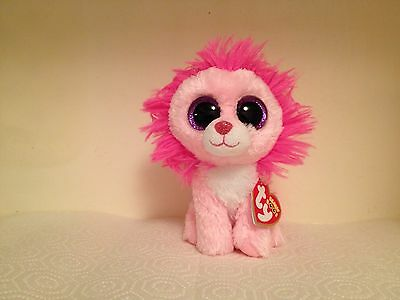 "HTF  *Fluffy* ~ Ty Beanie Boo~ 6"" Valentine Lion~ MWMT!!  Super Cute!! WOW!"
