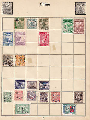 CHINA Early Stamps on Old Album page MINT, MNG, FINE USED..