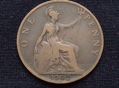 1902 rare British penny 'low tide'
