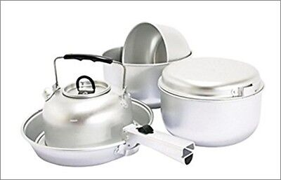 Higear super chef 6 piece hiking aluminium ali lightweight cook set KP903