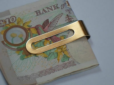 24K Gold Plated Money Clip Slim Cash  Credit Card Holder Wallet Stainless Steel