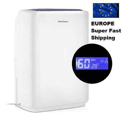 New Silent 16L 32-Pint Dehumidifier Air Purifier Digital LCD Portable Damp Mold