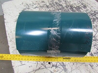 "3-Ply Green PVC Rubber Smooth Top 2-Sided Conveyor Belt 16.25"" Wide 64' Long"