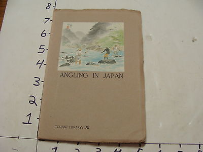 Early Japanese Tourist  Library--1940 ANGLING IN JAPAN #32 1st edition