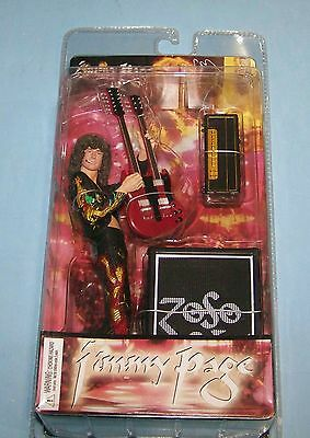 """Led Zeppelin Jimmy Page w/ Guitar 7"""" Inch Action Figure Toy New In Box NIB Rare"""