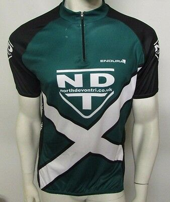 New Men's Endura Large Jersey Top Neck Zip North Devon Tri Cycling