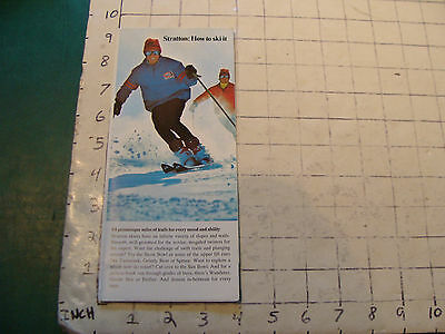Vintage High Grade SKI brochure: 1971--STRATTON: HOW TO SKI IT,