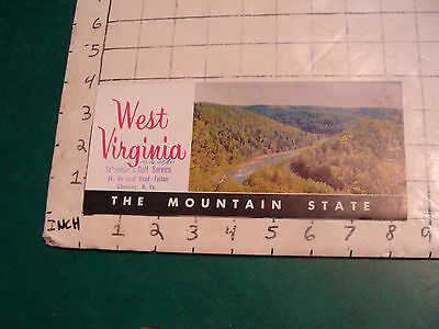 vintage HIGH GRADE travel paper: WEST VIRGINIA the mountain state 1960