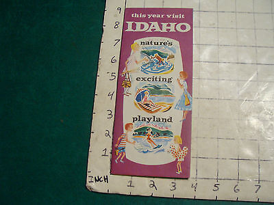vintage HIGH GRADE travel brochure: 1958 this year visit IDAHO natures exciting