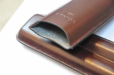 Genuine Leather Cohiba 2 Cigar Case Tube Holder smoke container Cigar Men Gift