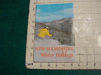 Vintage High Grade Brochure: NEW HAMPSHIRE WINTER GUIDE; 1971; 34pgs