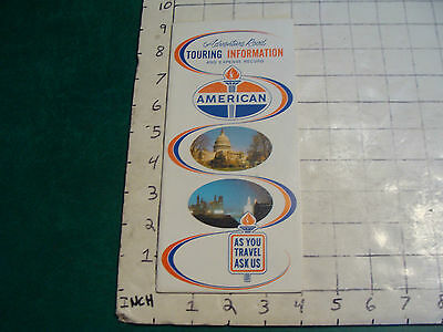 vintage HIGH GRADE travel paper: 1962 AMERICAN touring info & record UNUSED