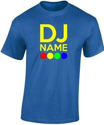 DJ Your Name Disco Music Personalised Mens T-Shirt 10 Colours (S-3XL) by swagwea