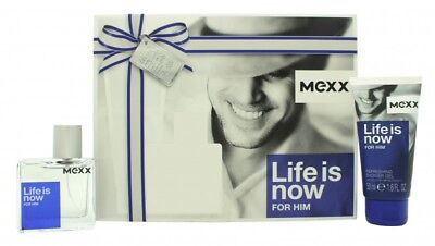 Mexx Life Is Now For Him Gift Set 30Ml Edt + 50Ml Shower Gel - Men's For Him