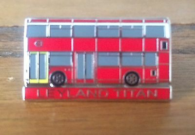 Great Christmas Stocking Filler - London Titan Bus Enamel Badge