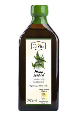 Eco RAW 100% Hemp seed oil cold pressed, unrefined 250ml/500ml Cannabis seed oil