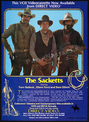 THE SACKETTS__Original 1983 Print AD promo / advert__TOM SELLECK__SAM ELLIOTT