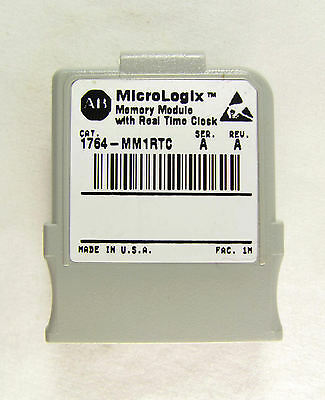 Allen Bradley, MicroLogix 1500, 1764-MM1RTC, Memory with Real Time Clock, Nice!
