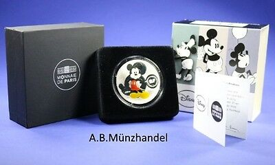 10 Euro Silber Frankreich 2016 Disney Mickey Mouse A Travers les Ages PP Proof