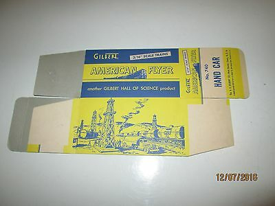Reproduction Box for American Flyer #740 Hand Car