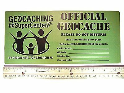 Official Geocache Sticker - Large