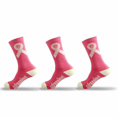 Adrenaline Lacrosse Socks One Size Pink Breast Cancer Awareness Lot of 3 New