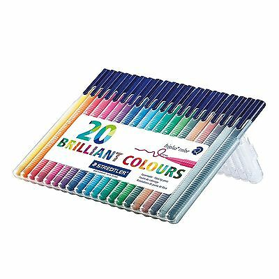 Staedtler Triplus Colour Fibre-Tip Pen Desktop Box Pack of 20 Assorted Colours