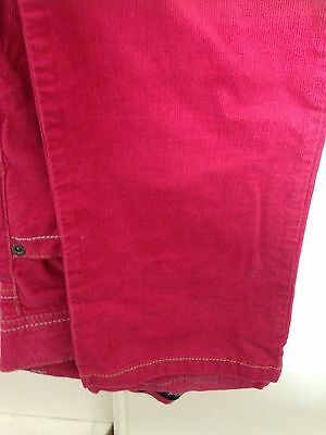 Mini Boden Girls Pink Cord Trousers Age 13 Christmas