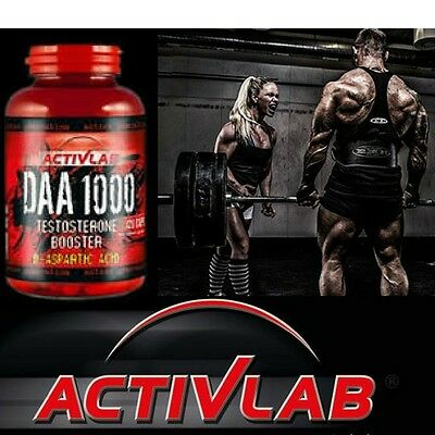 Activlab DAA 1000, GH Testosterone Booster, D-aspartic acid 4000 mg. Free P&P