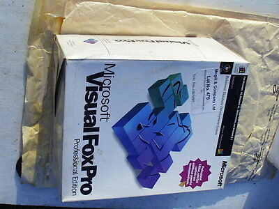Microsoft Visual FoxPro Professional version 3 for Windows NEW RETAIL BOXED