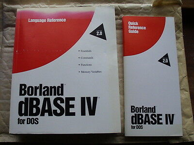 NEW Borland dBase IV v2 manuals Ashton-Tate dBase 2 to 5 with DOS Compilers DBMS